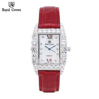 Đồng Hồ Nữ Chính Hãng Dây Da Royal Crown 6111 Chống Nước Chống Xước thumbnail