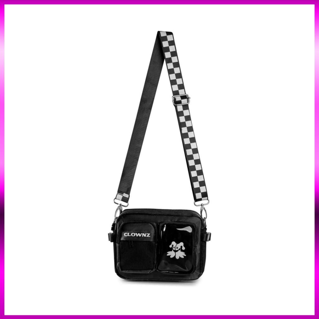 Túi đeo chéo ClownZ v4 thời trang nam nữ  đi chơi đi du lich đen giá rẻ