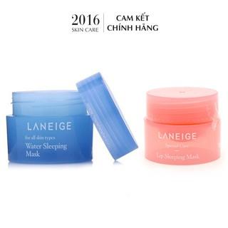 Combo Mặt Nạ Ủ Môi + Mặt Nạ Ngủ Laneige Minisize - 2016 Skincare