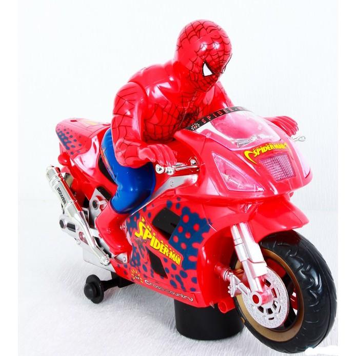 Đồ chơi người nhện đi xe máy dùng pin FZX992