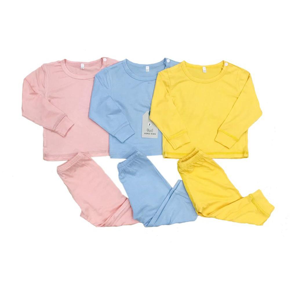 Bộ quần áo dài tay thun lạnh cho bé (từ 1-8 tuổi) VEMZKIDS