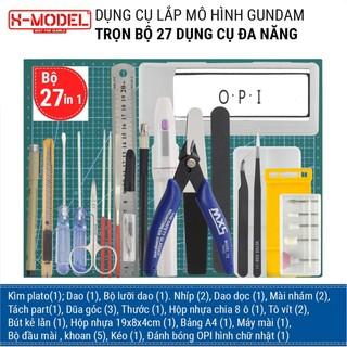 Bộ dụng cụ Gundam Tool làm mô hình XMODEL cho đồ chơi lắp ráp Anime Nhật Bản (Bộ từ 27 dụng cụ đến Bộ 1 dụng cụ) thumbnail