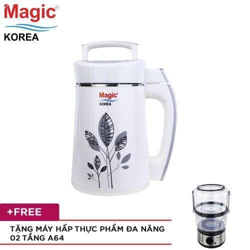 [Mã ELHAF300 giảm tối đa 300K ] Máy làm sữa đậu nành, xay Magic A68 + Tặng Máy hấp 02 tầng Magic A64