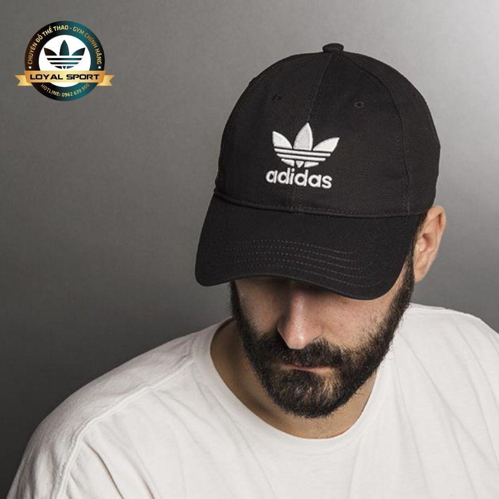 Mũ Adidas Đen Logo 3 Lá Truyền Thống Chất Cực Đẹp Full Tag Code Form Cứng Cáp