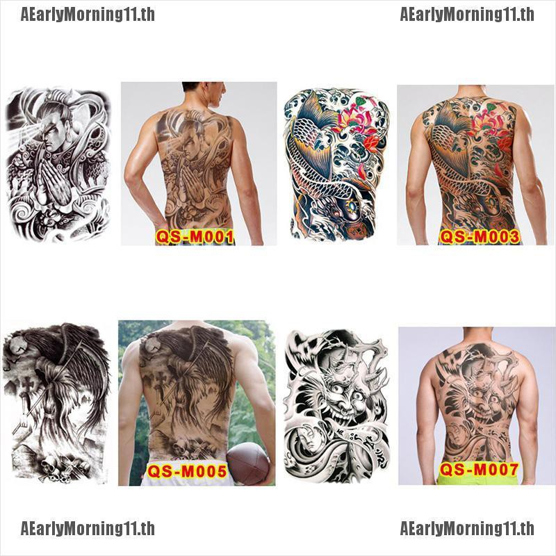 COD[AEarly]Huge design full back temporary tattoo large body art waterproof