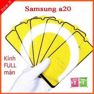 Kính cường lực Samsung A20 full màn hình, Ảnh thực shop tự chụp, tặng kèm bộ giấy lau kính taiyoshop2 thumbnail