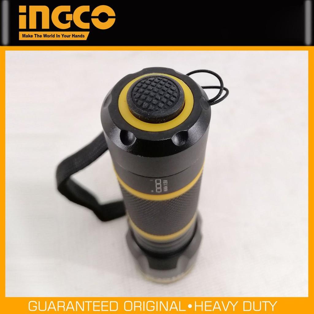 Đèn pin cầm tay mini siêu sáng INGCO HFL013AAA1 vỏ hợp kim nhôm chống rỉ sét, pin 3A, chống nước IPX-4, led R3 Samsung