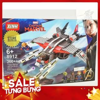 [Hot] Lego XINH-8912 Lắp Ráp Captain Marvel Chiến Đấu Với Người Skrull ( 360 Mảnh ) (Hàng có sẵn)