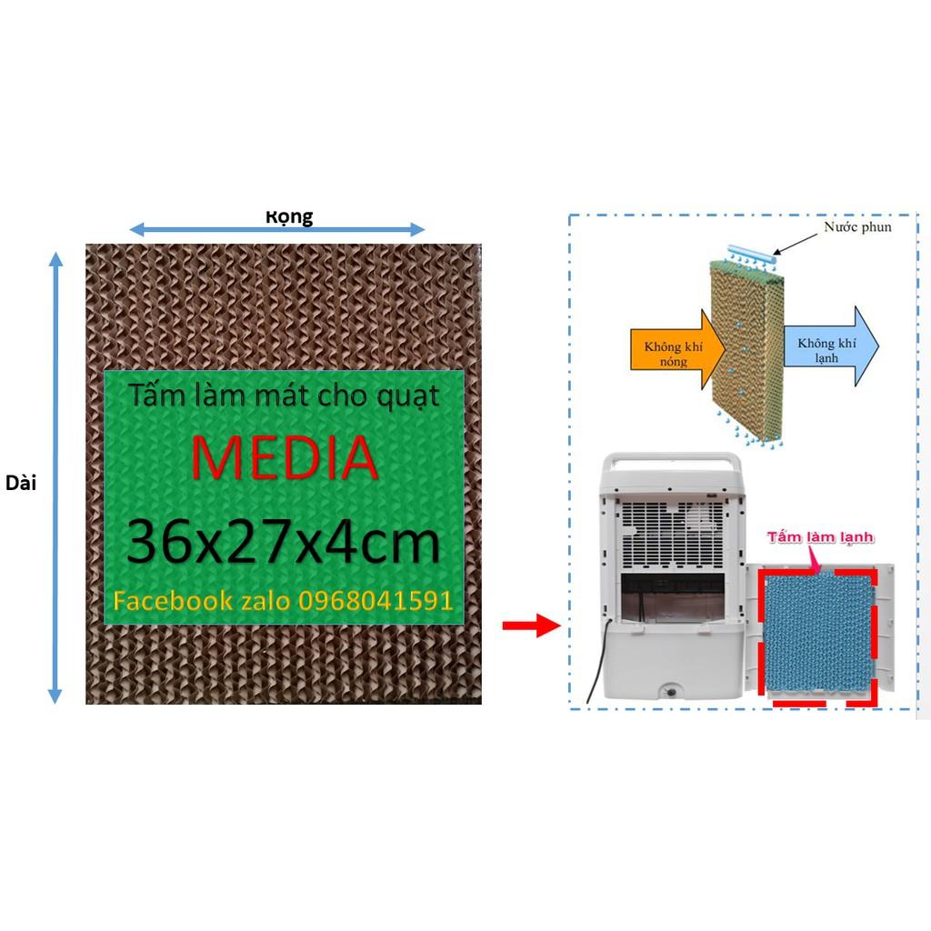 Tấm làm mát cooling pad, tấm làm mát tổ ong cho quạt media kích thước 36x27x4cm