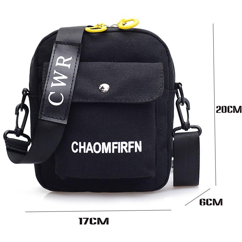 Túi xách đeo chéo đeo vai nữ vải cá tính loại 1 đựng điện thoại siêu xinh CHAOMFIRFN TXN84