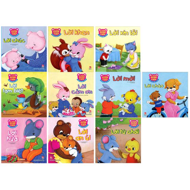 Sách - [COMBO 10] Phát triển kỹ năng giao tiếp cho bé 2-6 tuổi