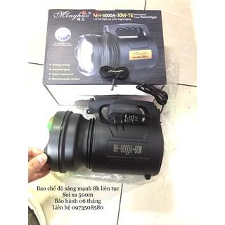 Đèn pin T6siêu sáng,đèn xách tay siêu to, pin siêu khủng hàng công ty công suất 60w- chế độ sáng mạnh 8h liên tục