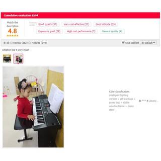 Đàn Organ điện tử Bán chuyên + Bộ phụ kiện + Chân + Túi đàn (cho người mới học) nhãn tiếng Trung [MÃ HD001]
