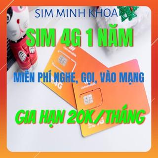 Sim 4G 1 Năm – Sim DATA, Sim Cảm Ơn Vietnamobile Không Giới Hạn Data (FREE tháng đầu) Gia Hạn 30K/Tháng