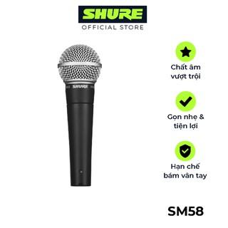 Micro Karaoke Shure SM58LC-Chính hãng - Dành cho thuyết trình, trình diễn, karaoke