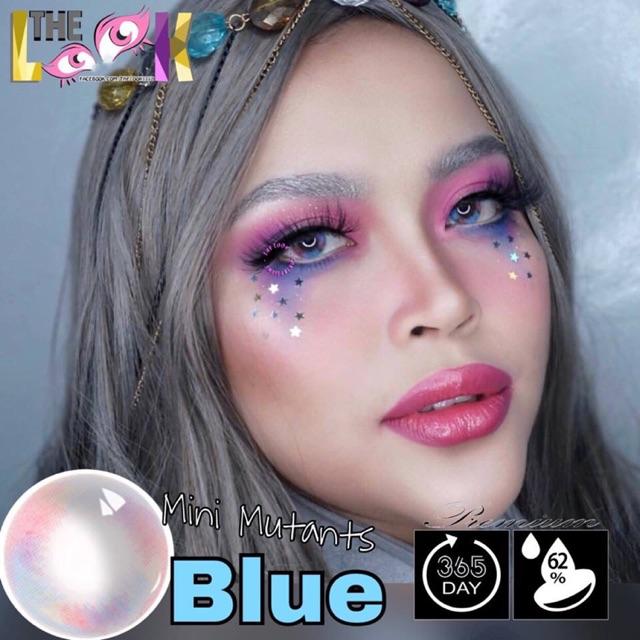 Contact Lens - Mini Mutants Blue + Khay Gương