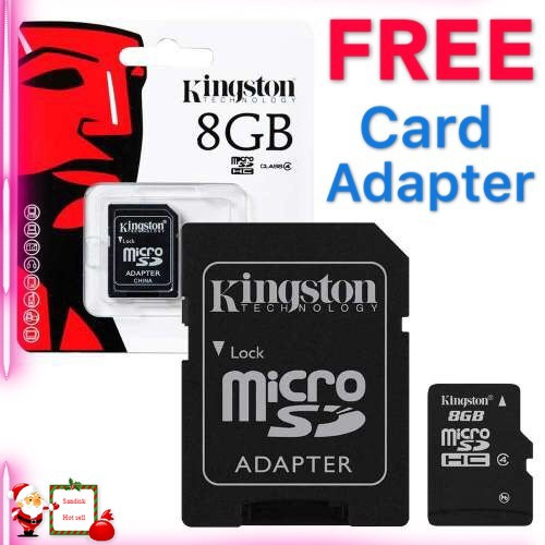 FAST ORI Kingston Memory Card Class 10 8GB 16GB 32GB 64GB 128GB 256GB FREE ADAPT