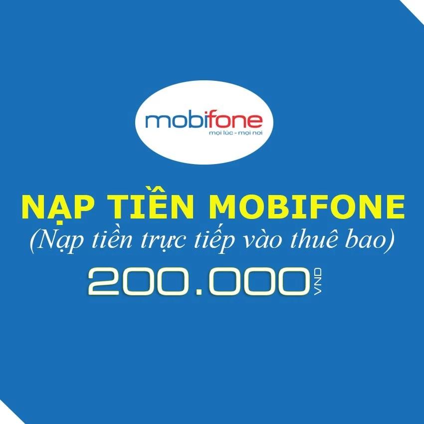 Nạp tiền trực tiếp Mobifone 200K - 3333853 , 528250849 , 322_528250849 , 200000 , Nap-tien-truc-tiep-Mobifone-200K-322_528250849 , shopee.vn , Nạp tiền trực tiếp Mobifone 200K