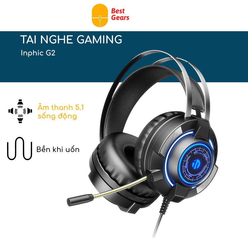Tai nghe gaming ❤️FREESHIP❤️ tai nghe chụp tai G2 - Headphone chuyên game LED Siêu bền