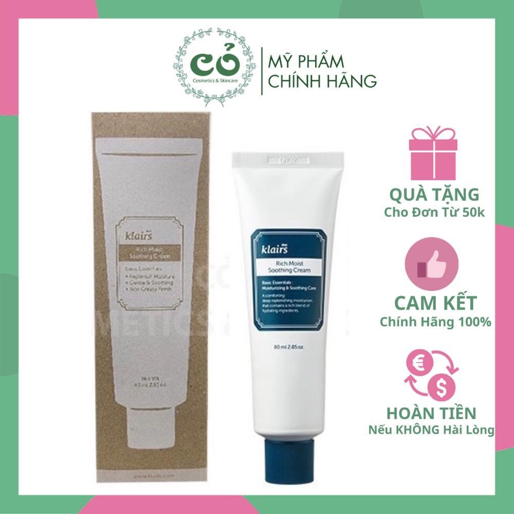 Kem Dưỡng Cho Da Khô Klairs Rich Moist Soothing Cream