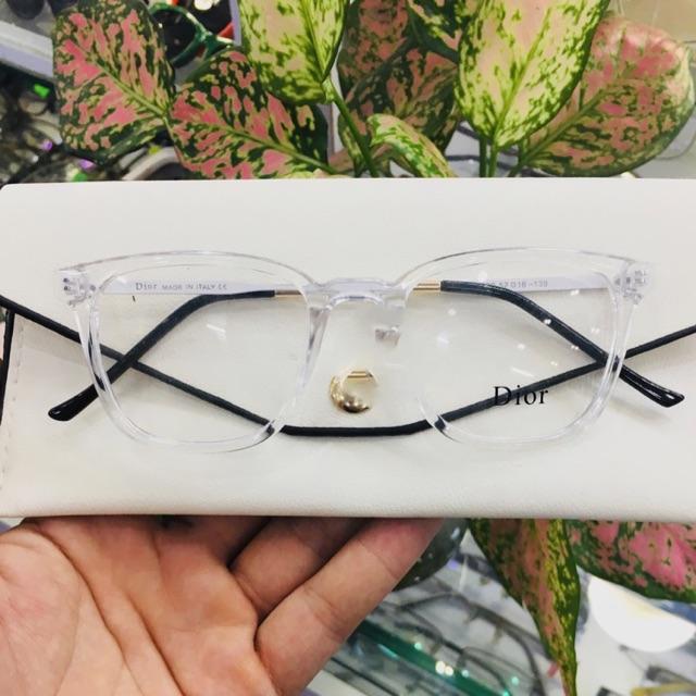 Gọng kính nữ trắng trong HOT nhất – nhận cắt kính cận , viễn , loạn