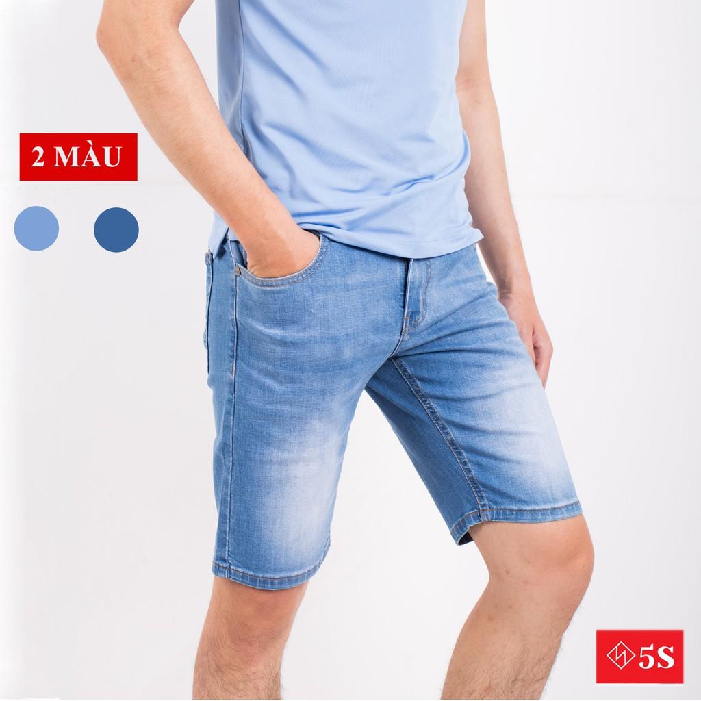 Quần Short Jean Nam 5S (2 mẫu) Chất Cotton Cao Cấp Mềm Nhẹ, Co Giãn Tốt, Thiết Kế Trẻ T