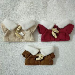 Áo khoác cổ lông cho doll 20cm