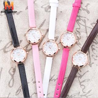 Đồng hồ nữ Yuhao HSB4721, dây da pu, mặt tròn xinh xắn thumbnail