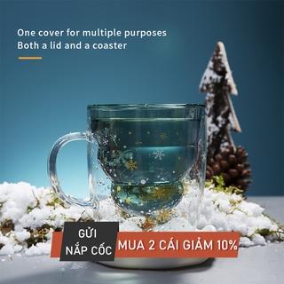 Ly thủy tinh BANFANG dùng uống nước có tay cầm xinh xắn