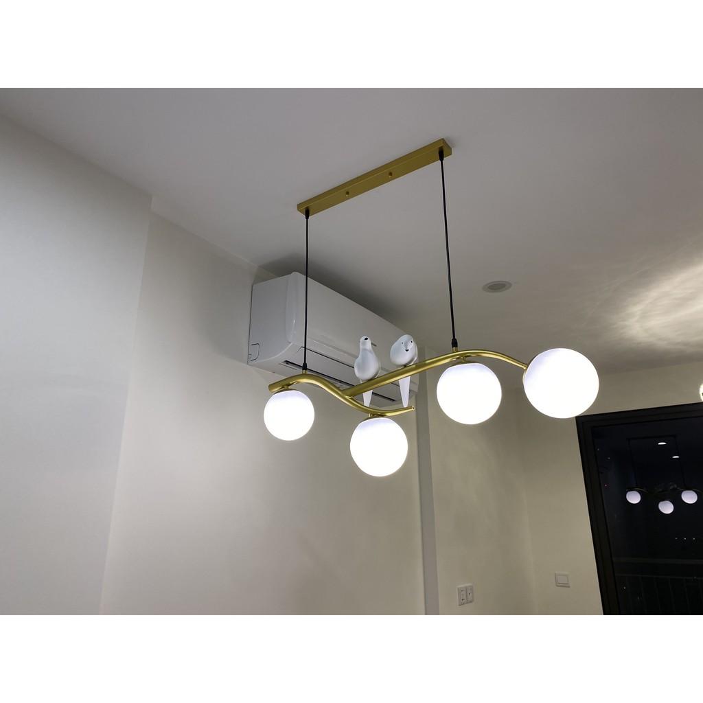 Đèn thả trần,đèn trang trí,đèn thả bàn ăn,đèn chim- Đèn chùm chim đôi, đèn chùm phòng khách, phòng ăn- bảo hành 2 năm