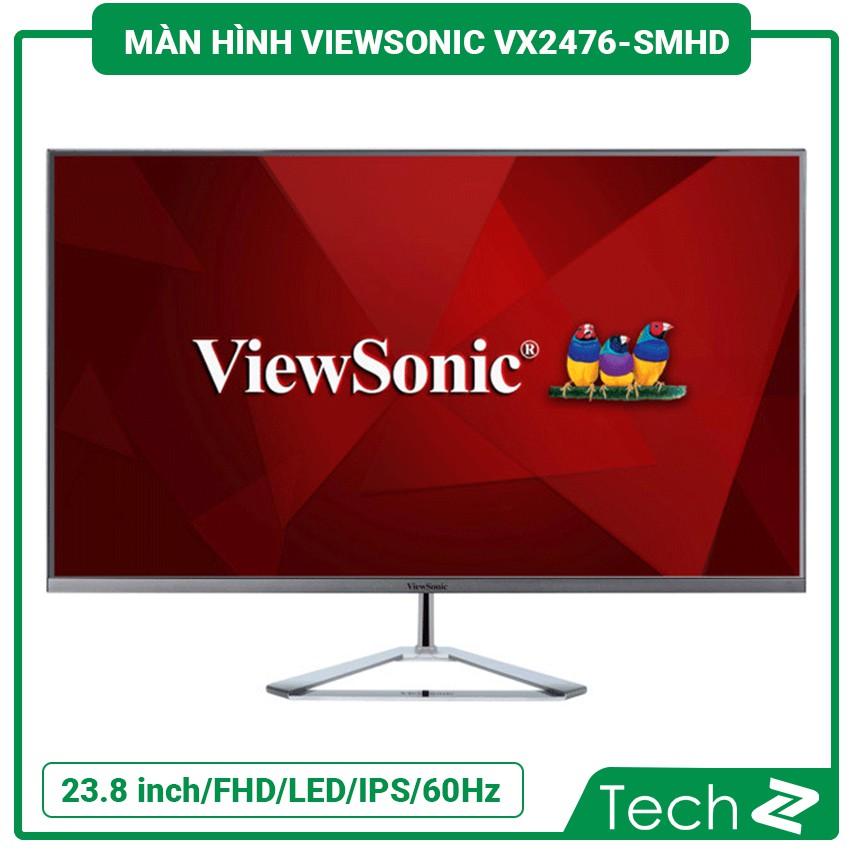 Màn Hình Viewsonic Vx2476-Smhd (23.8 Inch/Fhd/Led/Ips/60Hz/5Ms/250 Nits/Dp+Hdmi+Vga)