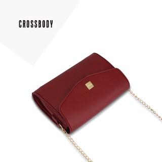 Túi đeo chéo nữ nắp gập dây xích IDIGO FB2-133-00 thumbnail