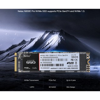 SSD Netac 128GB M.2 2280 NVMe PCIe N930E Pro Gen3 4 Chính Hãng Dùng Cho Laptop PC - Bảo hành 36 tháng 1 đổi 1 thumbnail