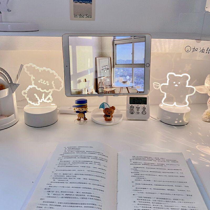 Đèn Led 3D Trang Trí Phòng Hình Gấu/Cừu Dễ Thương BiTi DN295