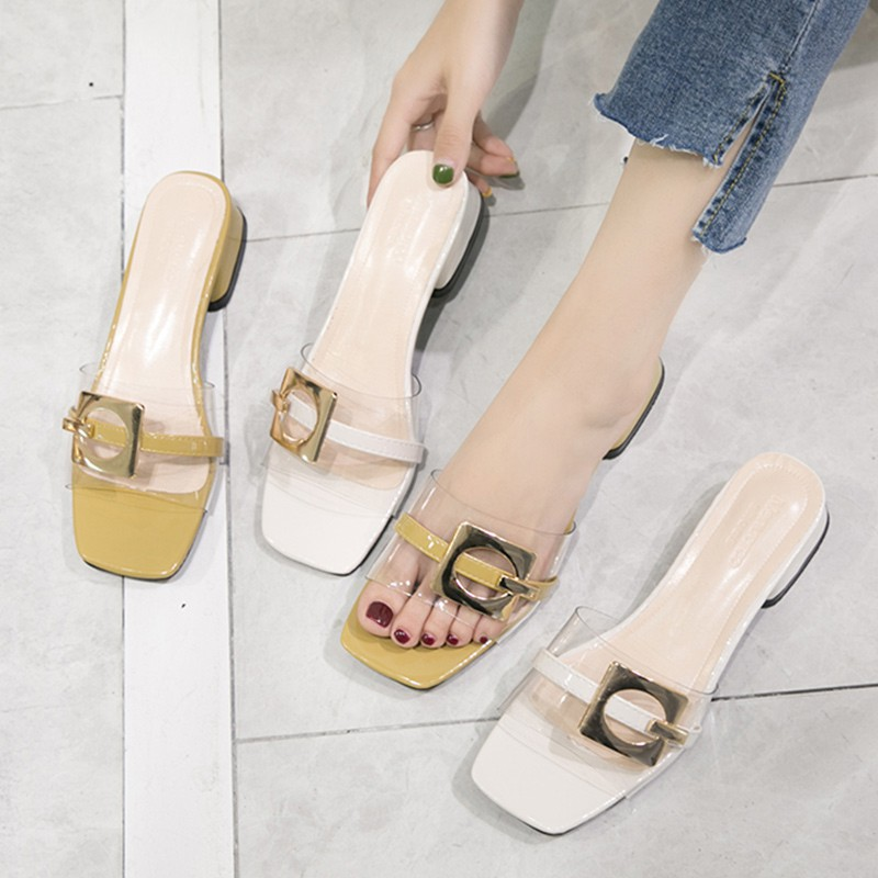 nd slippers women wearing Korean fashion hundred matching skirt shoes with thick