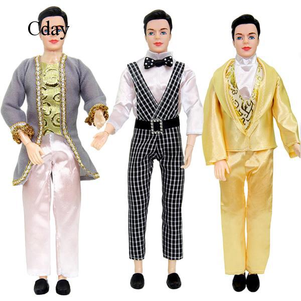 4 Sets Handsome Clothes Outfits Costume Accessories for Men Boy Ken Barbie C120