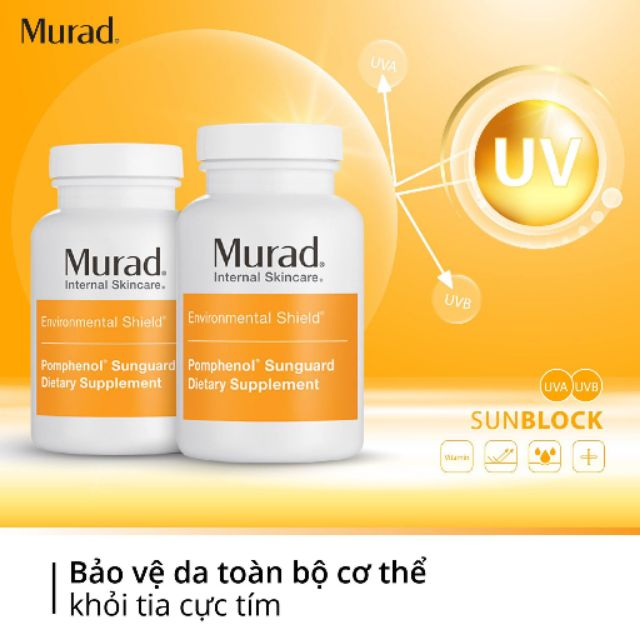 Viên Uống Chống Nắng Nội Sinh Murad Chiết Xuất Từ Quả Lựu Pomphenol Sunguard Dietary Supplement