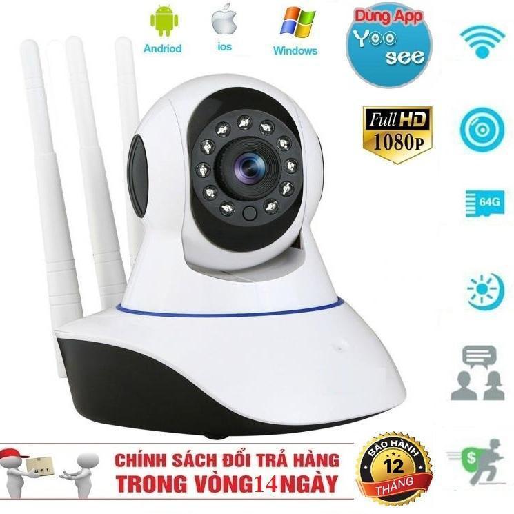 Camera Robot Quay 360 Độ Yoosee 3 Râu 2.0