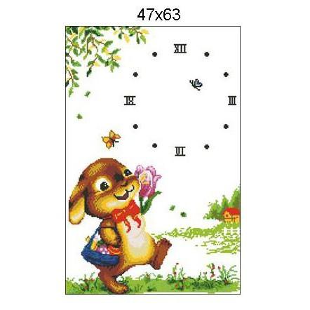 Thỏ Con Hái Hoa Tranh thêu chữ thập chưa thêu ĐH8595T