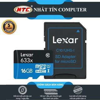 [Mã ELFLASH5 giảm 20K đơn 50K] Thẻ nhớ MicroSDHC Lexar 16GB 633x UHS-I U1 95MB/s kèm adapter (Xanh)