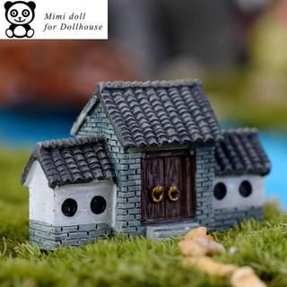 Ngôi nhà 3 gian trang trí nhà búp bê tiểu cảnh dài 4.5 cm Minidoll