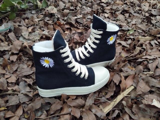 (💥Bản chuẩn 11💥Tặng bok+tất+quà☄️) Giày thể thao nam nữ Ro cổ cao,thấp,lười thêu hoa đế thơm,tăng chiều cao T111