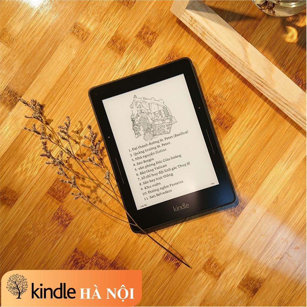 Máy đọc sách Kindle Voyage (7th) bộ nhớ 4GB, màn hình 6inch 300PPI sắc nét có đèn nền với phím chuyển trang tiện dụng