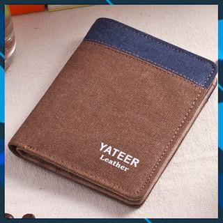 [hót 2021]Ví nam dáng đứng cực chất bỏ túi nhiều ngăn da PU cao cấp lịch lãm YATEER.