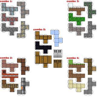 5 Combo mô hình giấy block(khối) Minecraft