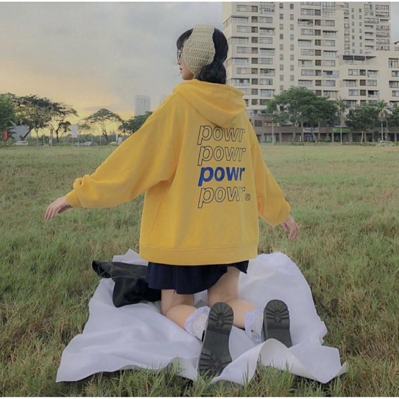 Áo khoác nỉ hoodie power unisex nhiều màu