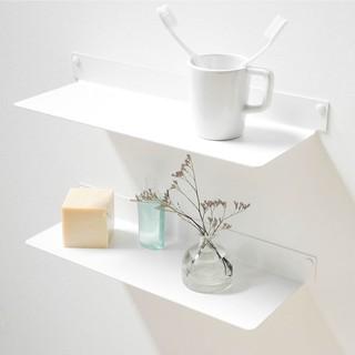 Kệ nhà tắm treo tường SMLIFE 4515 (set 2) – Kệ treo tường bằng thép dày 1,6mm, sơn tĩnh điện màu Trắng/ Đen hiện đại