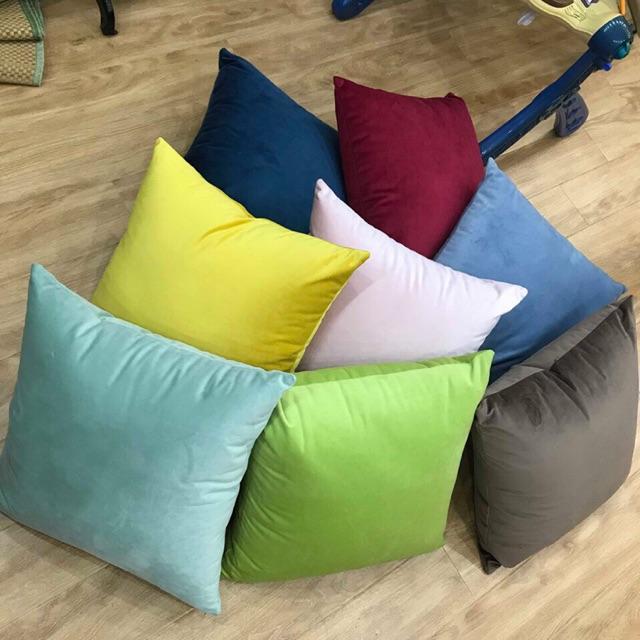 Gối tựa lưng sofa vải nhung ( khách ghi chú lại màu cần mua  giúp e ạ )