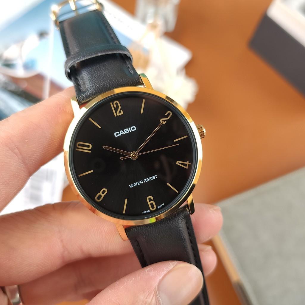 Đồng hồ nam dây da Casio MTP-VT01GL-1B2UDF chính hãng