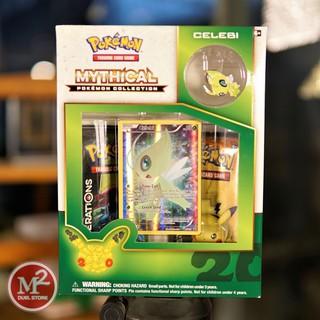 Hộp thẻ bài Pokemon Pin Collection – Phiên bản huy hiệu Celebi